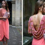 Maxi sukienka zdobiona kamieniami