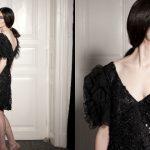 Mała czarna w stylu glamour