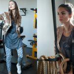 """Glam sport – """"skandalicznie niepraktyczna"""" stylizacja na siłownię"""