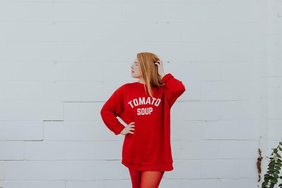 czerwone ubranie